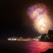 Dubrovnik old city walls and big firework — Stock Photo #50515905