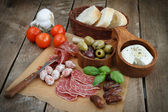 Variety of antipasti. — Stock Photo