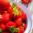 Strawberries in a Bowl . — Stock Photo