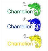 Diversos colores de camaleón — Vector de stock