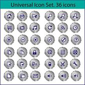 Universal Icon Set. 36 icons - Stock Illustration — Stock Vector