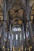 собор санта-мария-дель-мар, барселона — Стоковое фото