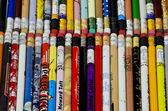 Pencils with rubber — Stock Photo