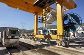 железная дорога под строительство — Стоковое фото