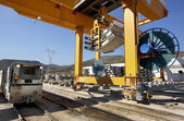 Ferrovia in costruzione — Foto Stock