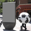 Foto Stock: Soccer ball disguise