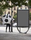 Déguisement de ballon de football — Photo
