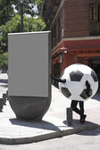 Soccer ball disguise — Stock Photo