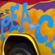 Peace graffiti - Stock Photo