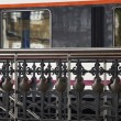 Handrail of a train station — Stockfoto