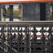 Stock Photo: Handrail of train station