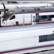 Royalty-Free Stock Photo: High-speed trains at railway station.