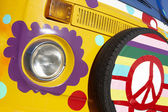 Van with hippie style — Stock Photo