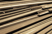 Rails of train dismantled — Stock Photo