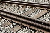 железные дороги деталь — Стоковое фото