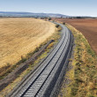 Stock Photo: Railway on country side