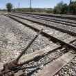 el ile sistem değişikliğinin raylar eski tren istasyonu — Stok fotoğraf