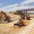 High speed line under construction - Stock Photo