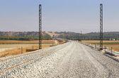 Järnväg församling på processen — Stockfoto