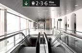 Escalator stairs on a railway station — Stock Photo