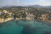 Aereal view of Mallorca coast. — Stock Photo