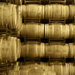 Wine barrels in aging cellar — Stock Photo #26371145
