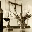 Wine bottle still life  — Stockfoto