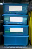 Storage Bins — Stock Photo