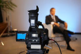 Television interview — Stock Photo