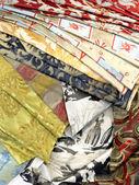 Hedvábí textilního průmyslu pozadí — Stock fotografie
