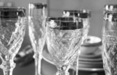 Luxury fine glasses — Stock Photo