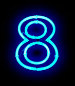 Neon light number 8 — Stock Photo
