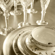 Plates and glasses — Stock Photo #30896591