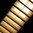 Skylight with diagonal blinds — 图库照片