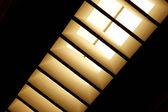Clarabóia com cortinas diagonal — Foto Stock