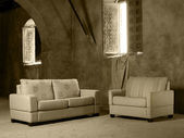 Sofa and armchair — Stockfoto