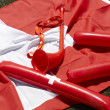 Switzerland sports fan cheer and celebration elements — Stock Photo