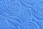Blue Towel with floral pattern and texture — Stock Photo