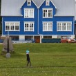 Iceland. Isafjordur traditional house — Stock Photo