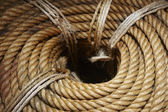 Circular wrapped rope. — Stock Photo