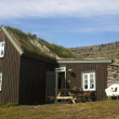 Iceland. Isafjardaraiup fiord. Traditional icelandic house. — Stock Photo