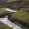 Iceland. Vatnsdalur. River and mountains. — Stock Photo