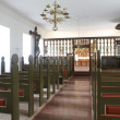 Stock Photo: Iceland. Holar church, 1763. Interior. North Iceland.