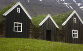 Iceland. Traditional icelandic wooden houses. North Iceland. — Stock Photo