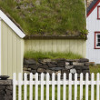 Icelandic turf house in North Iceland. Siglufjordur. — Stock Photo
