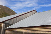 Warehouse metallic roofs. — Stock Photo