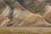 Volcanic landscape with rhyolite formations. Iceland. South area — Stock Photo