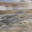 Active volcanic zone. Geothermical vents. Iceland — Stock Photo