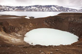 Askja and Viti craters in Iceland — Stock Photo