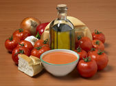Bowl of gazpacho as done in Spain — Stock Photo